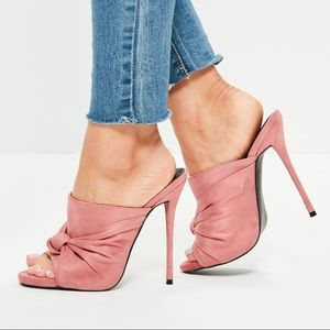 Misguided Pink Knot Detail Sandals